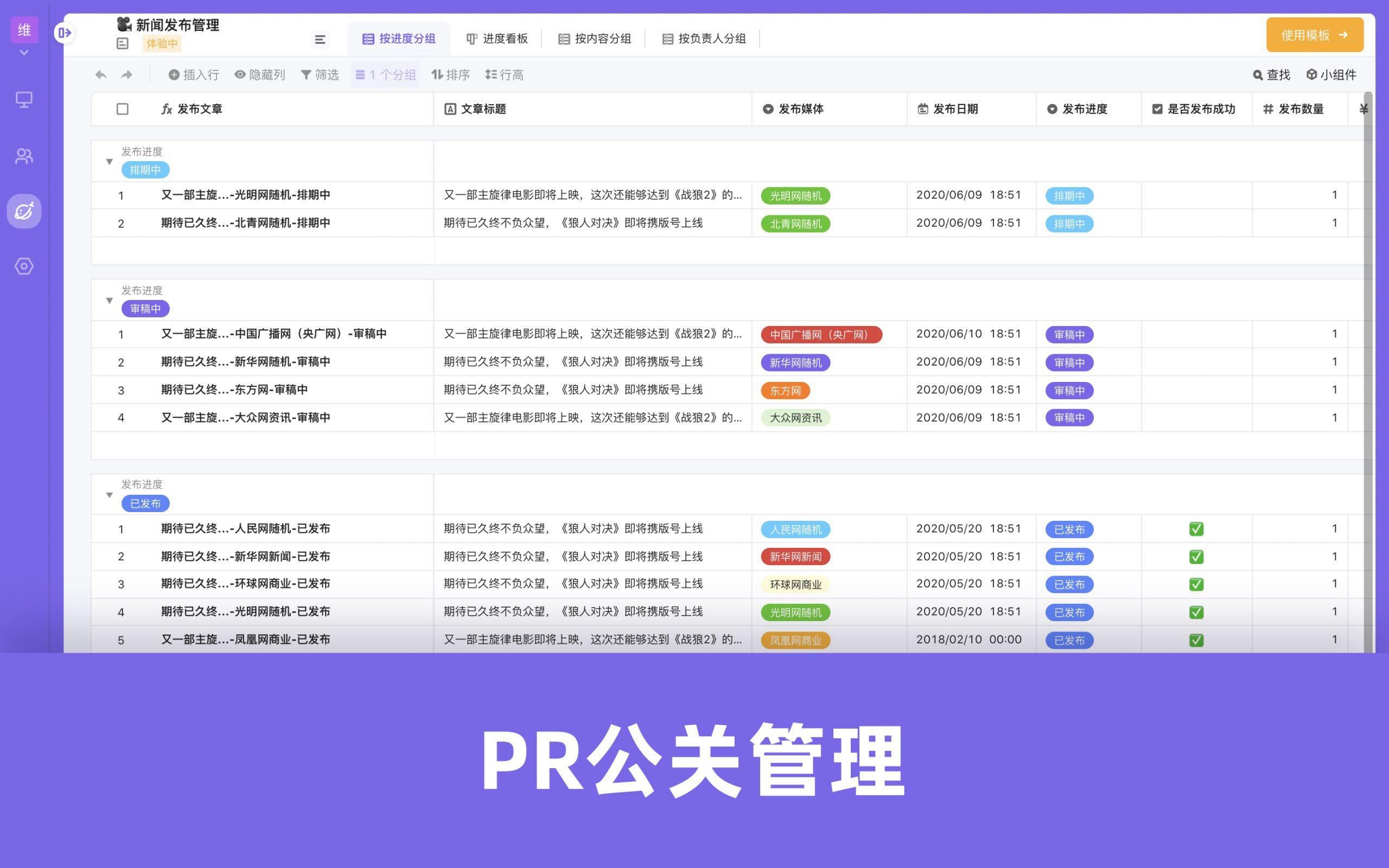 MKT模板-PR公关管理